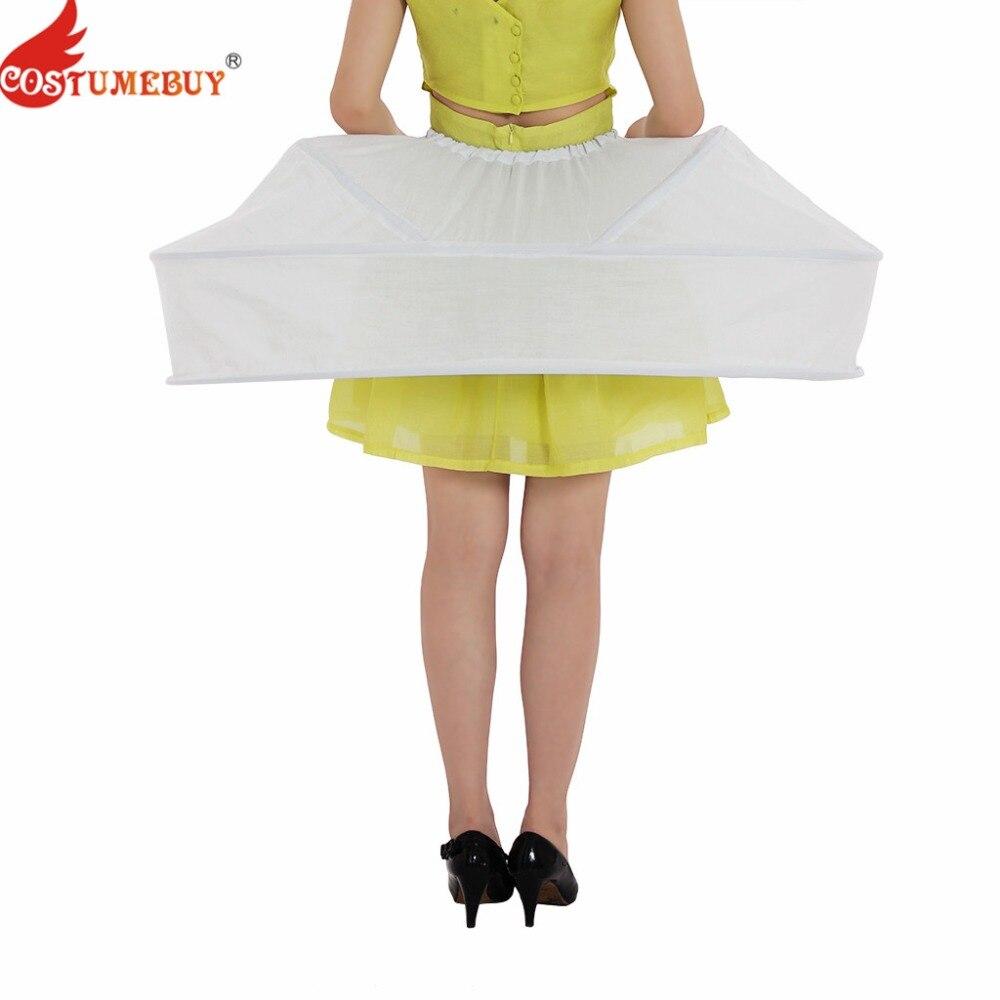 Costumebuy Vintage Rococo Crinoline Petticoat Underskirt Women Medieval Victorian Cage Bustle Skirt Ball Gown Dress Cosplay Prop