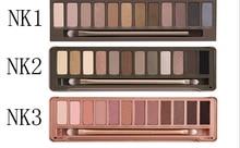 Caliente la venta 2016 nueva marca maquillaje sombra de ojos paleta básica NK123 3 tipos maquillaje profesional sombra de ojos cosméticos