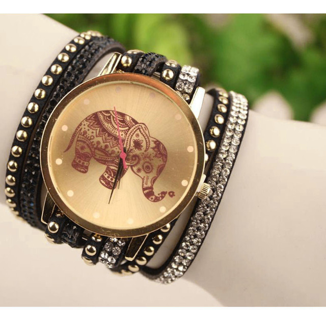 Fashion Bracelet Watch Clock Gift Woman Luxury Brand watches Elephant Watch Wome