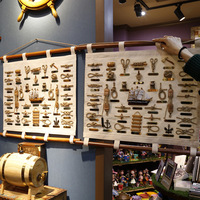 Home Furnishing decor Supplies Wood Canvas Sailing Ship/Anchor Ornaments Mediterranean Wall Mural Crafts Furnishings Personality