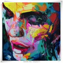 Palette knife painting portrait Francoise Nielly Hand painted Palette knife Face Oil painting Impasto figure on canvas Pop art 3