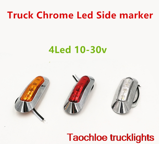 1x truck LED Side Marker lights Clearance tail Lamp 12V 24V external lights Car Truck Trailer Rear Lights caravan Parking light