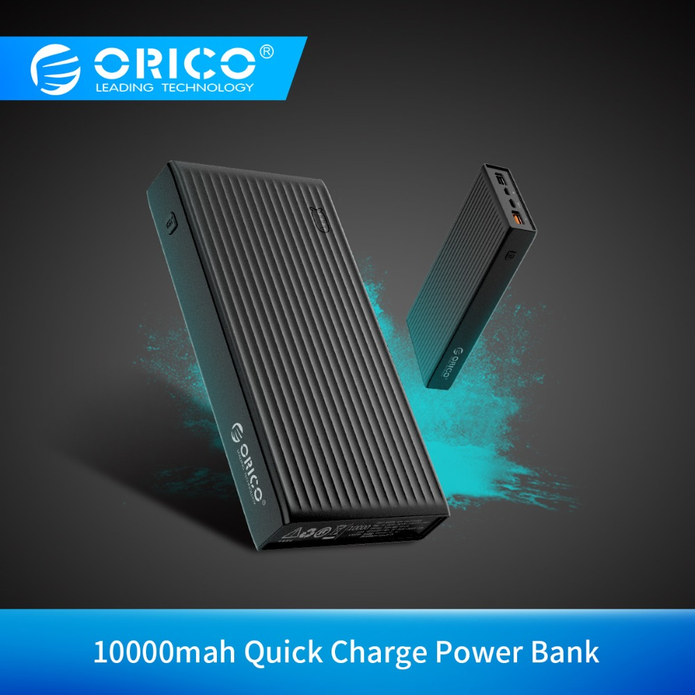 ORICO 10000-20000mAh Powerbank Portable External Battery Ultra Slim USB Mobile Charger Quick Charge Power Bank