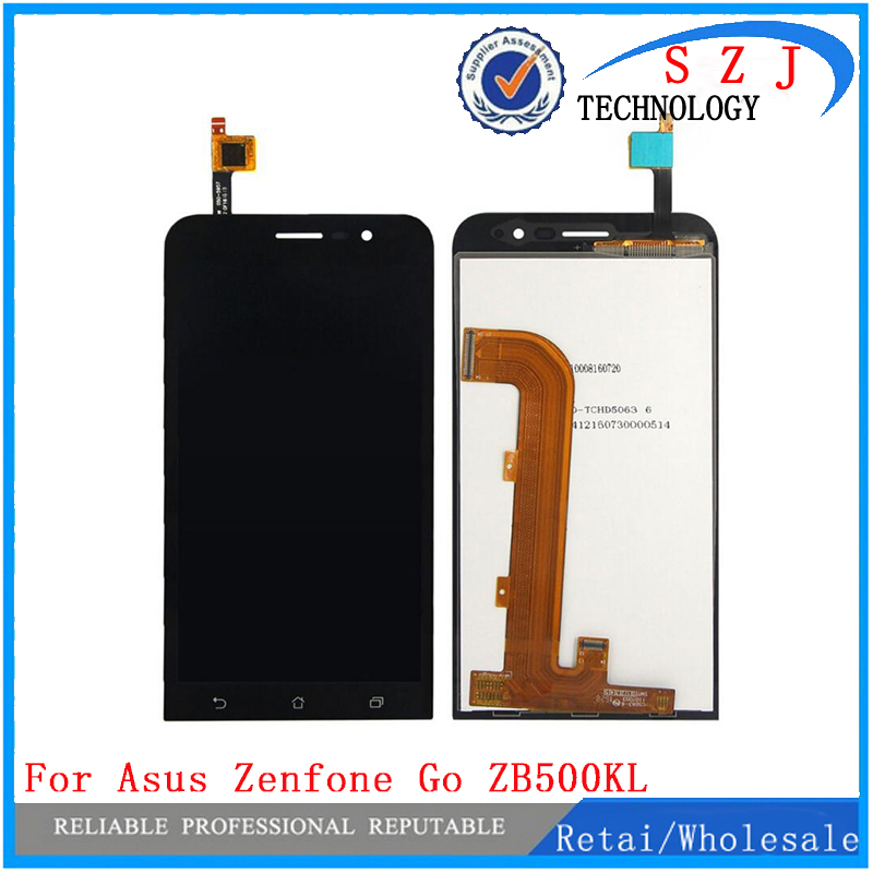 New 5'' inch case For Asus Zenfone Go ZB500KL Full LCD Display Touch Screen Panel Digitizer Assembly Replacement Free Shipping new original black full lcd display