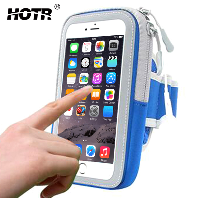 HOTR Full Protective Universal Sports Arm band For Samsung S8 S7 J5 2016 A5 2017 J3 S6 Running Bags Phone Case For Samsung S8 S7