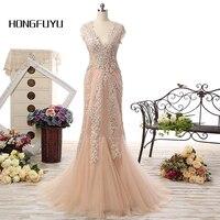 Champagne Romantyczna Plaża Suknie V Neck Rękawy Cap Bridal Suknia Ślubna W Stylu Vintage-Line Biały Koronka Długa Suknia Ślubna suknie