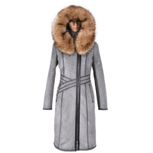 Factory direct supply 2017 new Faux Fur Raccoon Dog Fur collar winter Female Suede fur Plush Overcoat thick Antifreeze coat long
