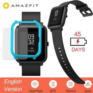 Image 1 - Huami Amazfit ביפ חכם שעון אנגלית גרסה Smartwatch נוער מהדורת ביפ IP68 GPS קצב לב 45 ימים המתנה