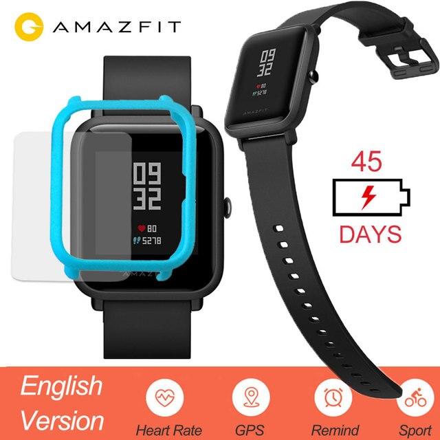 Huami Amazfit ביפ חכם שעון אנגלית גרסה Smartwatch נוער מהדורת ביפ IP68 GPS קצב לב 45 ימים המתנה