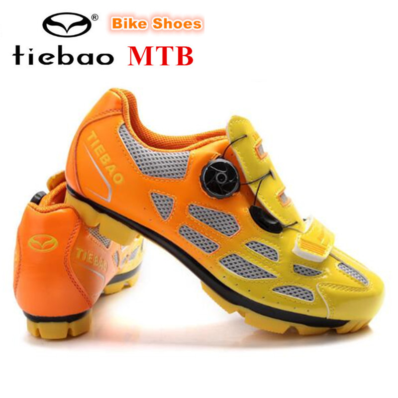 TIEBAO MTB Cycling Shoes Men PU Breathable Moutain Bike Shoes Auto-lock Athletic Bicycle Shoes Chaussure Vtt Zapatillas Ciclismo west biking bike chain wheel 39 53t bicycle crank 170 175mm fit speed 9 mtb road bike cycling bicycle crank