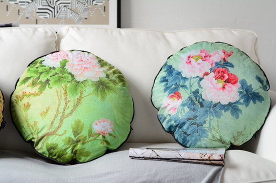 floral decorative round pillow sofa throw pillow printing cushion with filling chair cushion seat pad bed pillow home decor gift