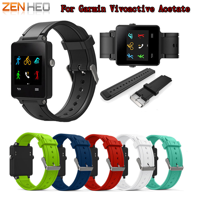 Image 1 - ZENHEO Watch Band New Fashion Sports Silicone Bracelet Strap Band For Garmin Vivoactive Acetate Smart WatchBand Accessories 2018-in Smart Accessories from Consumer Electronics