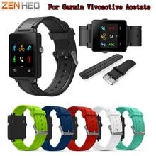 ZENHEO Watch Band Sports Silicone Bracelet Strap Band For Garmin Vivoactive Acetate Watchband Accessories