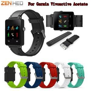Image 1 - ZENHEO حزام (استيك) ساعة أسورة رياضية من السيليكون حزام الفرقة للغارمين Vivoactive خلات مربط الساعة الاكسسوارات