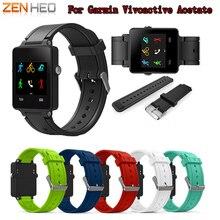 Zenheo Horloge Band Sport Siliconen Armband Strap Band Voor Garmin Vivoactive Acetaat Horlogeband Accessoires