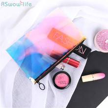 Transparent Laser TPU Receiving Bag Toothed Zipper Bags Environmentally Friendly Plastic Waterproof Cosmetics Gift Travel Stuff