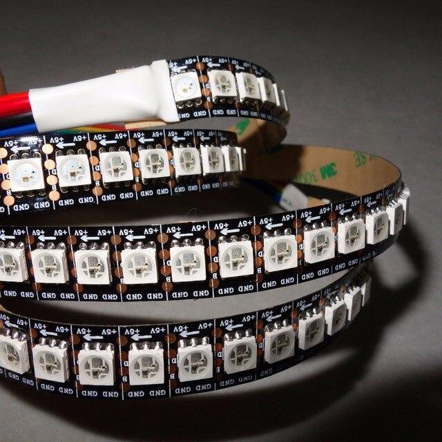 DC5V WS2813 адресуемых 2 м 144 светодиодов/M полноцветного светодиодные полосы пикселей, не водонепроницаемый, С 144 пикс./м; Черный печатной платы