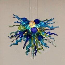 Antyczne Kolor Wysokiej Wiszące Lampy LED ręcznie Dmuchanego Szkła Żyrandole Salon Żyrandole w Wiszące lampki od Lampy i oświetlenie na
