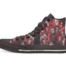 Jason Voorhees(многие лица); Новинка; дизайнерская Повседневная парусиновая обувь; обувь на заказ; Прямая поставка