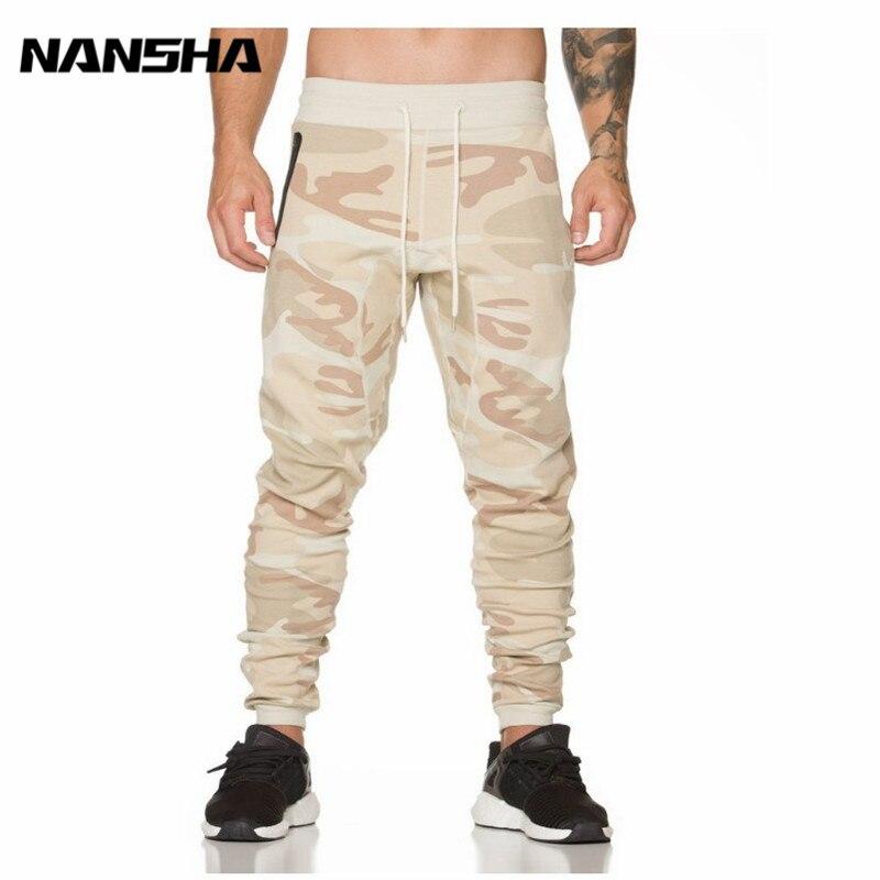 NANSHA Sweatpants Men Sportswear Camouflage Workout Bodybuilding Clothing Casual Gyms Fitness Joggers Pants Skinny Trousers