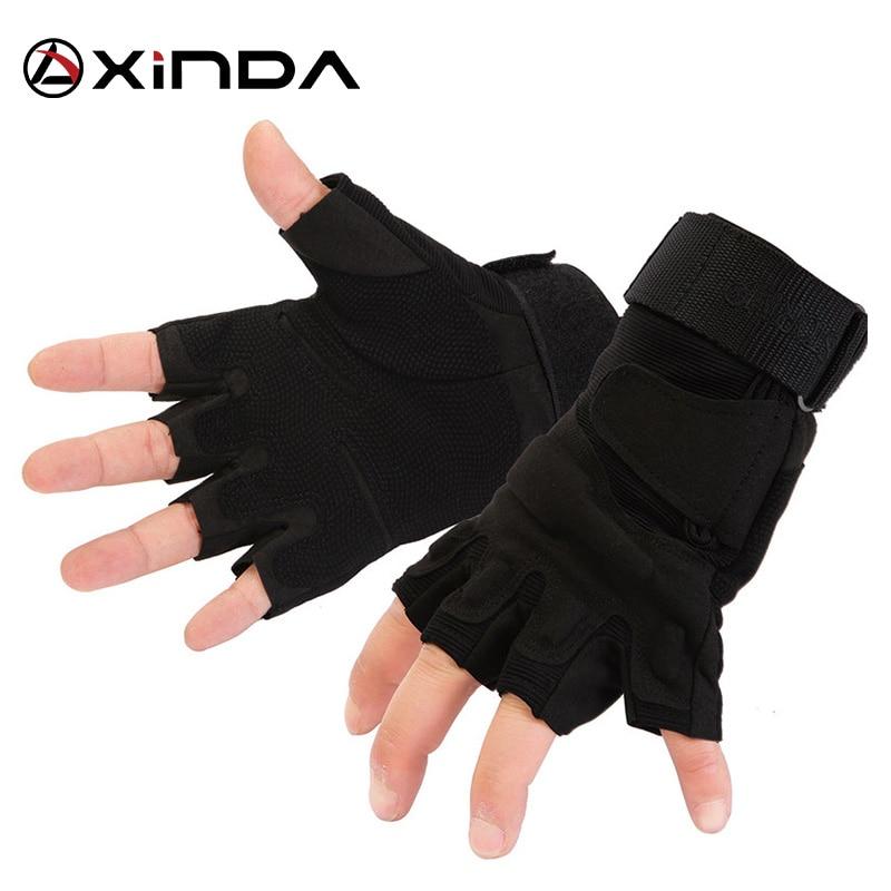 Висока якість XINDA професійний спорт на відкритому повітрі половина палець татика рукавички рок сходження спуск походи верхової їзди анти сліп рукавички  t