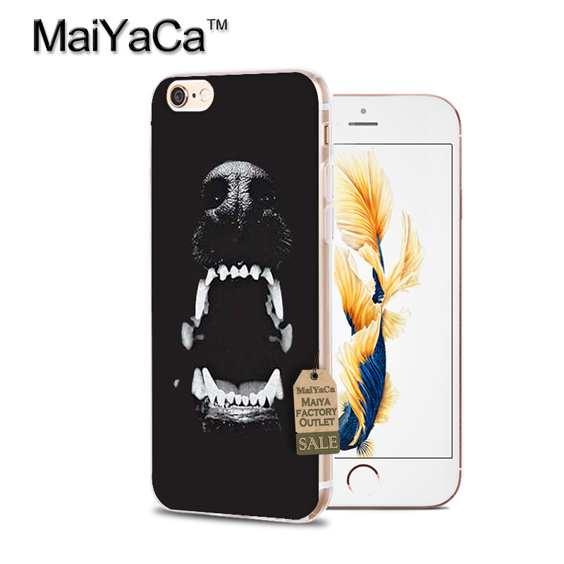 black dog Rottweiler Dog soft tpu phone case cover for iPhone6 6S 7 8Plus X 10 5S SE 5C 4s case Coque