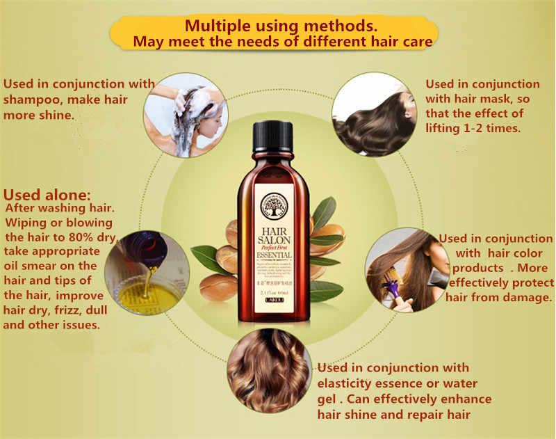 מונקו שיער אגוז שמן ארגן שמן נקי חינם שיער מתולתל שיער טיפול שיער קרטין 60 ml מסכת טיפוח משלוח חינם