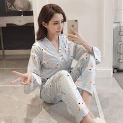 M-XL 3 шт. пижама в виде кролика с маска для глаз с принтом в полоску пижамный комплект ночное Pijama для женщин кимоно для невесты для ванной