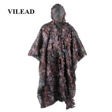 VILEAD 3D Maple Ghillie Suits Leaf Bionic Tactical Hunting Clothes Outdoor Military Poncho Sniper Birdwatching Camouflage Jungle breathable jungle bionic camo clothes wild hunting suits for hunter oem factory