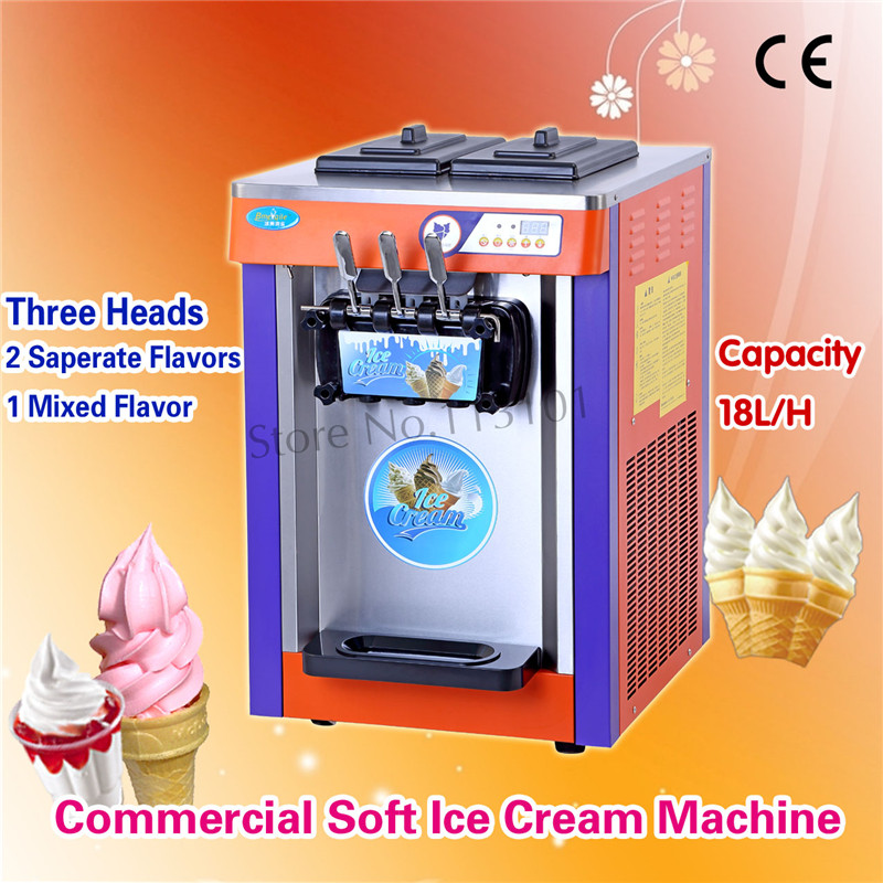 colorful soft ice cream machine stainless steel soft serve icecream maker with digital control. Black Bedroom Furniture Sets. Home Design Ideas