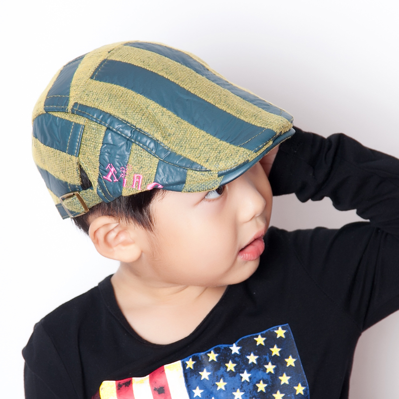 4e6f67d1fa4 2018 Autumn And Winter cool kids boys hats beret children cap brand Striped  hat boy accessories boina infantil-in Hats   Caps from Mother   Kids on ...