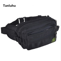 2bc0ca9a0 Tanluhu Women Cute Waterproof Nylon Waist Bags Packs Unisex Black Multi  Layer Belly Bags Men Lady