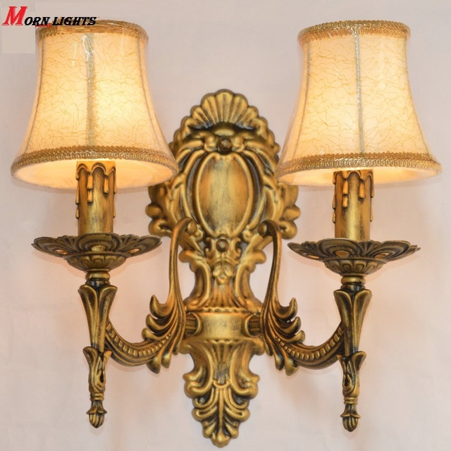 Free Shipping Antique Bronze Wall Sconce Light Fashion Bedroom Bedside Lamp Modern
