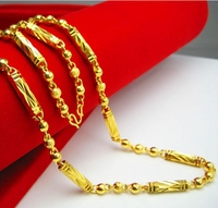Solid Yellow Gold Filled Mens Chain Necklace