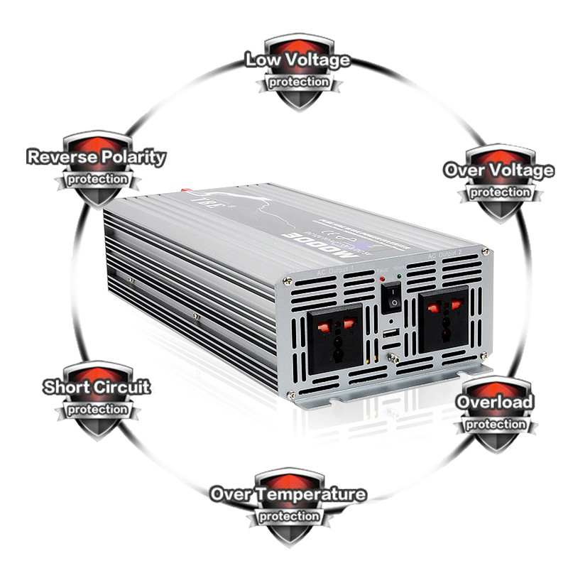 High Quality 3000W Pure Sine Wave Power Inverter Car Auto 3kw Power Inverter For Boat House Bazaar Pure Sine Wave With Charger - 5