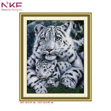 Care tiger counted patterns printon canvas cross stitch kit chinese embroidery needlework sets diy handicraft home decor animal