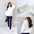 2017 new fall home pregnant women long sweater pullovers turtleneck maternity dress leisure clothing large plus fat