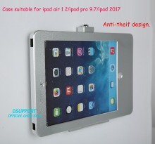 New Aluminum Alloy Tablet PC wall mounted Anti Theft design Display Stand with security lock for IPAD 2/3/4/Air/Air 2/ipad pro