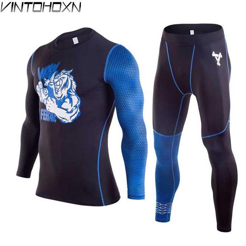 2 Stück Männer Quick Dry Kompression Lange Unterhosen Fitness Winter Gymming Männlichen Frühjahr Sporting Läuft Workout Thermische Unterwäsche M17864