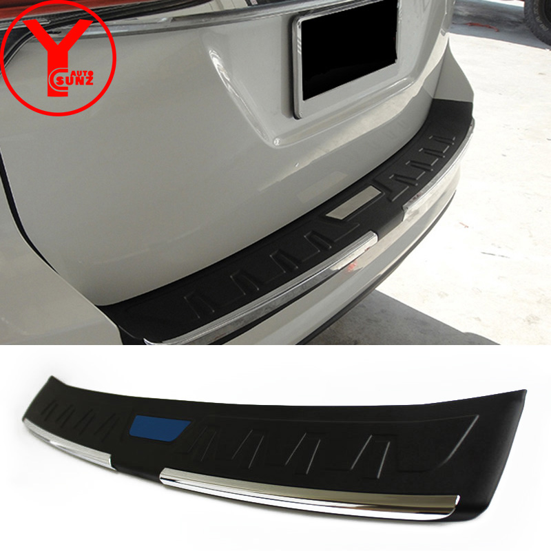 rear step bumper cover For Toyota Fortuner AN160 HILUX SW4 2015 2016 2017 car styling door sill scuff plate accessories YCSUNZ все цены