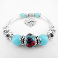 Beaded Bracelet Heart Elbow Accessories Indonesia Bead Bracelet Women Alloy Beaded Bracelet Jewelry(China)