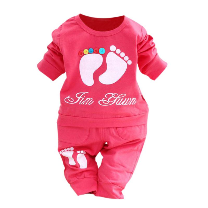 Qianquhui Baby Kid Clothing Set Infant Long Sleeve Kids Clothes Boys And Girl Candy Color Cartoon  T shirt + Pants Suit free shipping cheap high quality 1pc lot long sleeve baby girl boys children child 100% cotton t shirt candy color base shirt