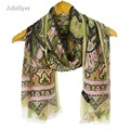 jzhifiyer YX194 45G 62*180cm+2*2CM Vintage Paisley Georgette Soft Material Long Silk Scarf Shawls New