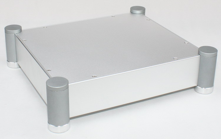 WF1182 Silver Full Aluminum Enclosure /Audio amplifier Case/ Preamp Box/ Tube amplifier Chassis 320*90*280mm wf1187 full aluminum audio amplifier chassis preamp enclosure tube amp box dac case 326 82 245mm with aluminum machine feet