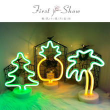 Neon Led Light Sign 8 Mode Holiday Christmas Party Home Decoration Bedroom Night Light Table Lamp Flamingo Moon Unicorn Tree
