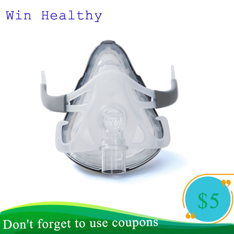 Bmc F1A Full Face Mask Realistic Silicone Gel Masks Mouth & Nose For Sleep Snoring Health Care And Apnea Therapy Instrument