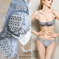 new arrival lace embroidery sexy comfortable transparent bra set sexy panties and bra sets soutien gorge sutyen takimlari