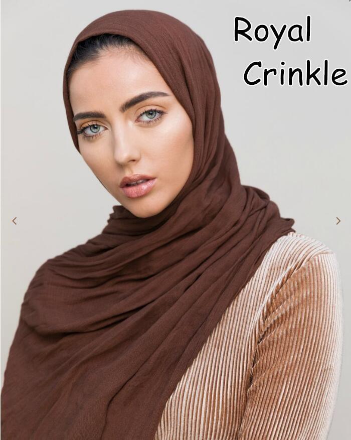 J2 High quality royal cotton crinkle   scarf   women   scarf     wrap   shawls 180*90cm can choose colors 10pcs 1lot