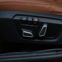 Car Styling Seats Waist Adjustment Button Switch Cover Trim Stickers For BMW 1 2 3 5