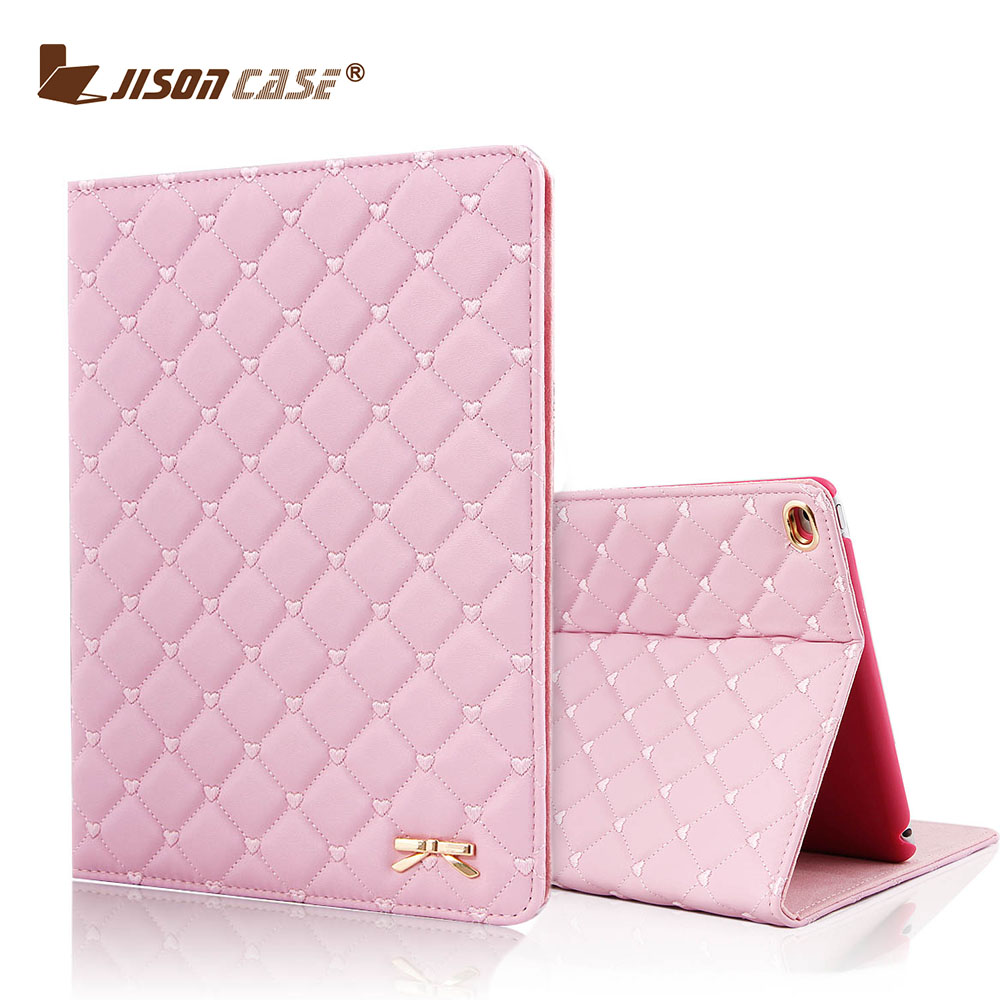 Jisoncase Luxury Flip Leather Case For iPad Air 2 Auto Wake-up Smart Cover For iPad Air 9.7 inch Cases For iPad 6 Top Leather for apple ipad air 2 pu leather case luxury silk pattern stand smart cover